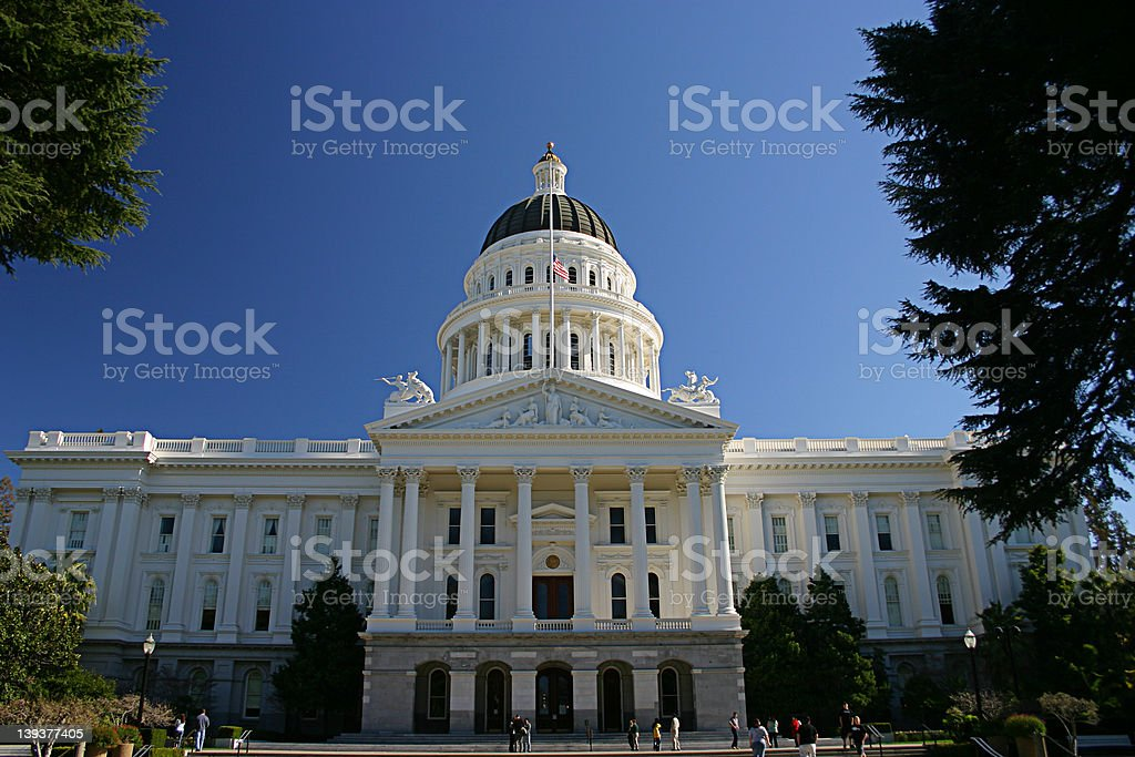Capitol of California royalty-free stock photo