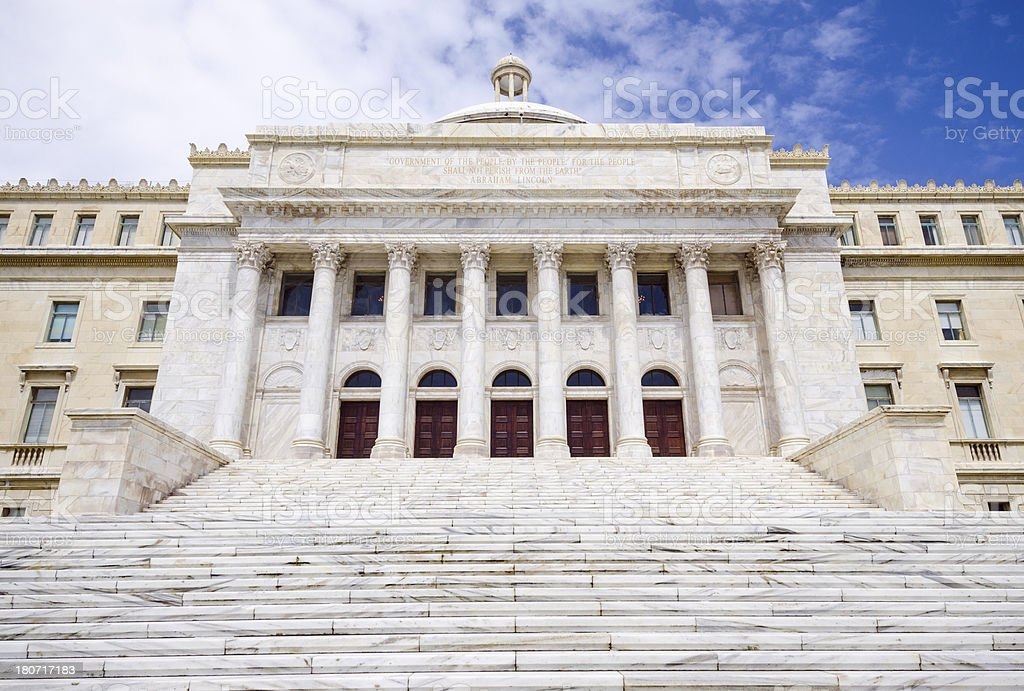 Capitol of Puerto Rico in San Juan royalty-free stock photo