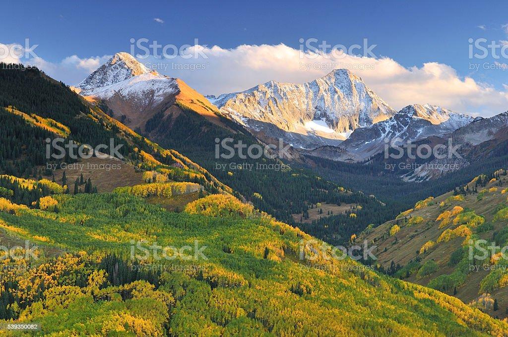 Capitol Peak Autumn stock photo