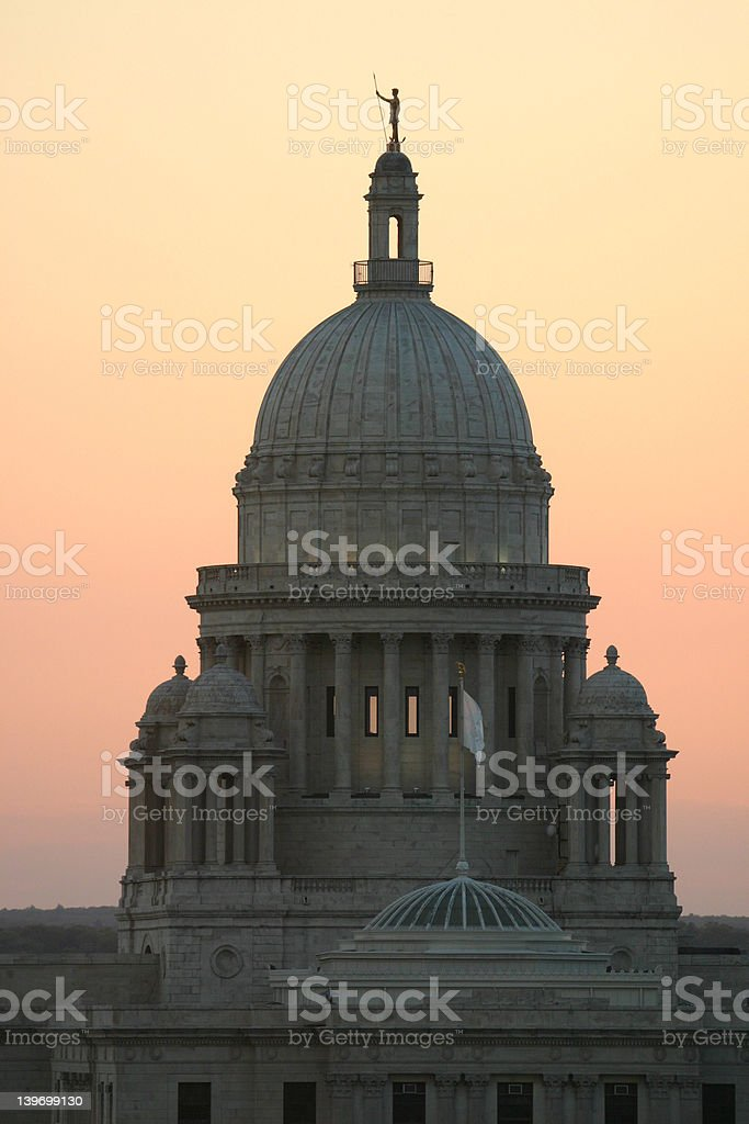 RI Capitol royalty-free stock photo