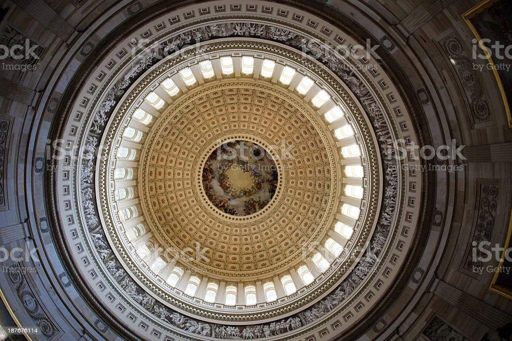 US Capitol Rotunda Apothesis stock photo