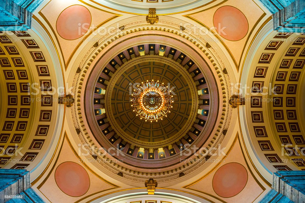 Capitol Rotunda - Olympia, Washington  USA stock photo