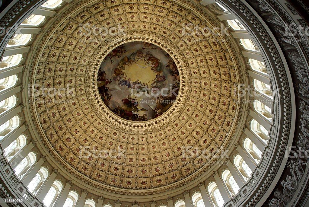 US Capitol Rotunda, Washington DC royalty-free stock photo