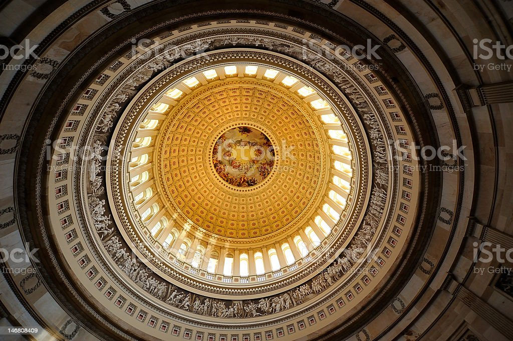 US Capitol Rotunda, Washington, DC royalty-free stock photo