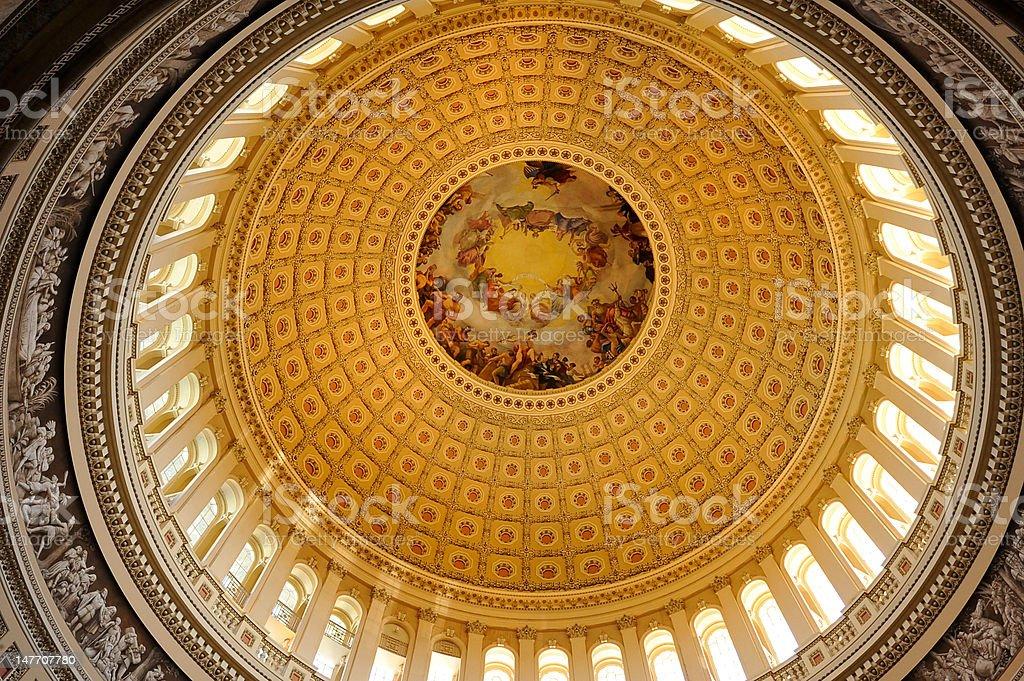 US Capitol Rotunday, Washington, DC royalty-free stock photo