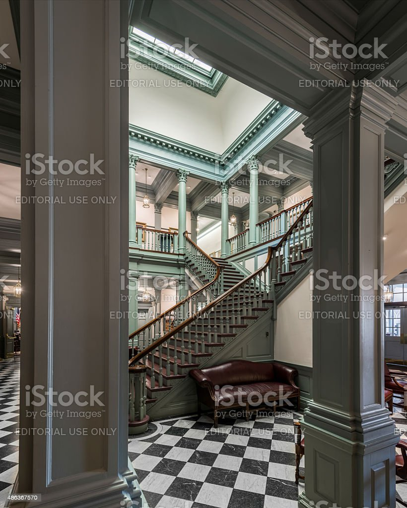 Capitol staircase in Dover stock photo