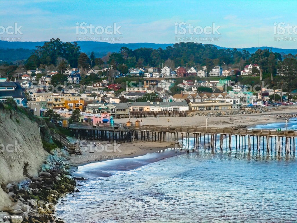 Capitola from Bluff stock photo