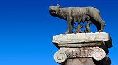 Capitoline Wolf at Palazzo del Campidoglio in Rome, Italy