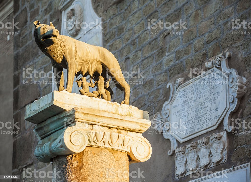 Capitoline wolf stock photo
