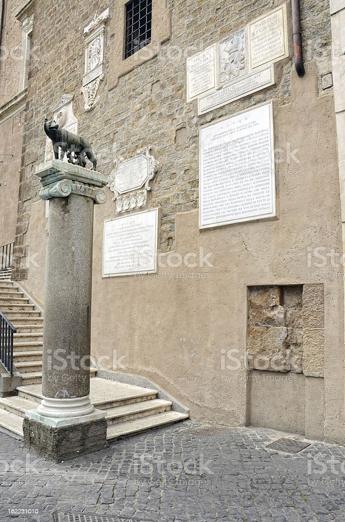 Capitoline Wolf, Rome royalty-free stock photo