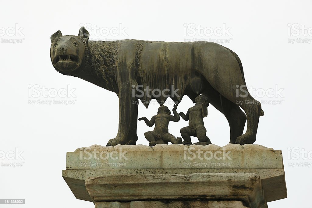 Capitoline Wolf with Romolus and Remus, Rome (XXXL) stock photo