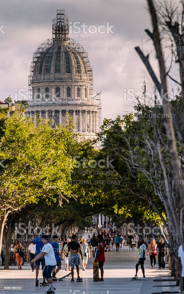 Capitolio from Prado stock photo
