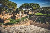 Capitolium Temple at Ostia Antica Archeological Site