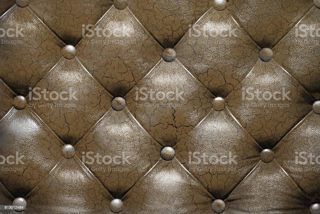 Capitone checkered coach leather stock photo