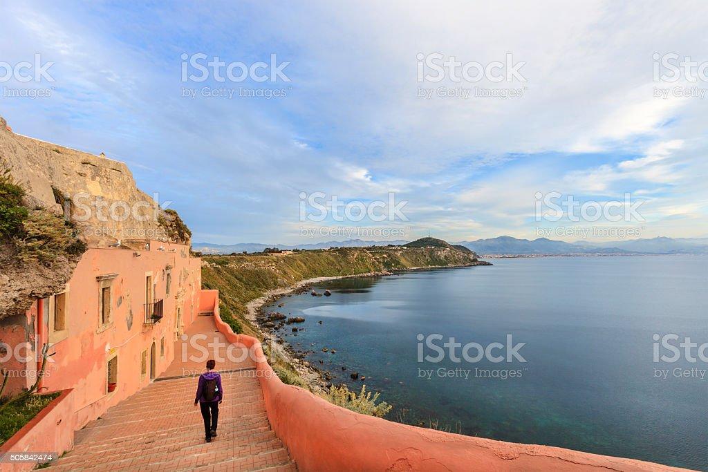 Capo Milazzo, Sanctuary of St. Anthony of Padua - Sicily stock photo