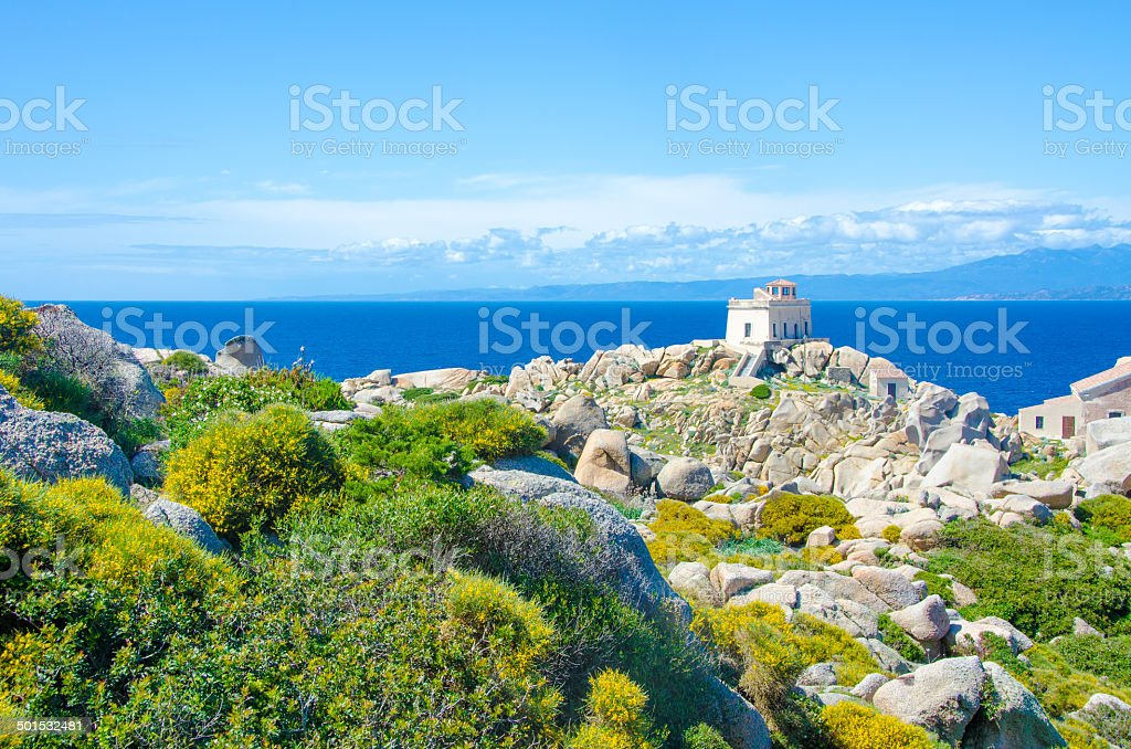 Capo Testa - Beautiful coast of sardinia stock photo
