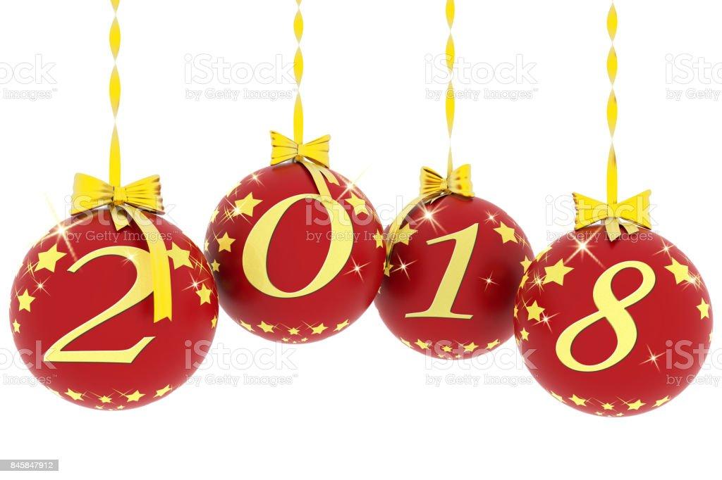 Capodanno 2018 decorazione Natale'n stock photo