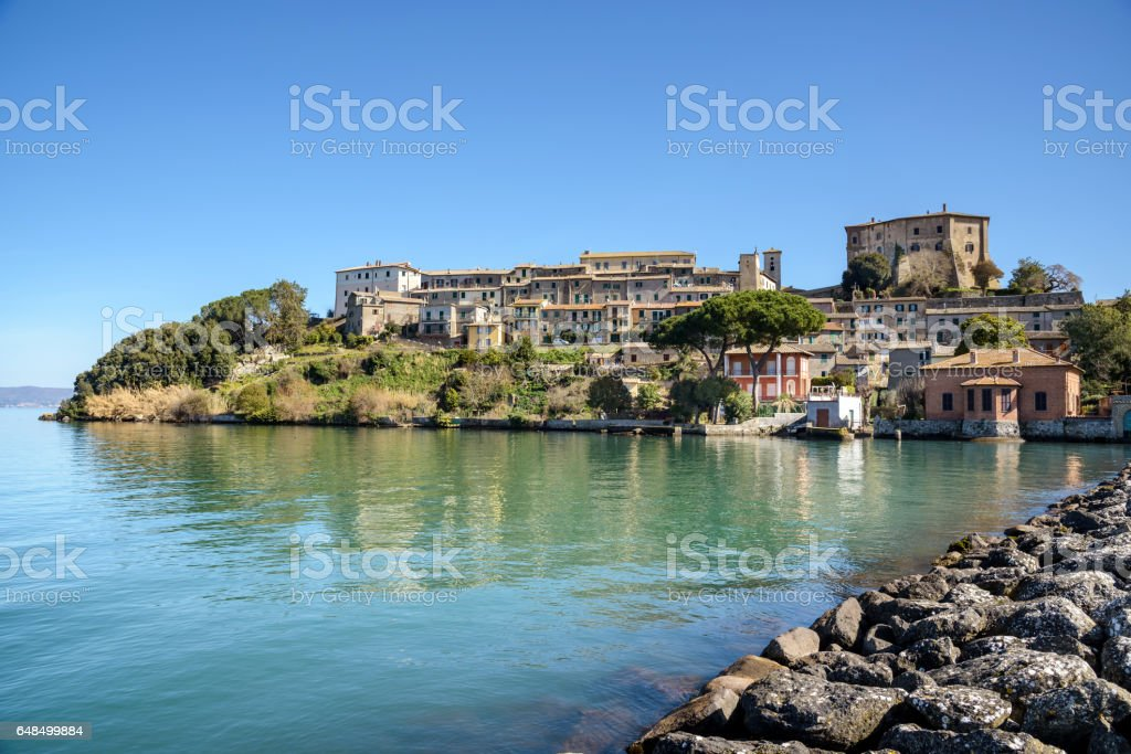 capodimonte, Bolsena lake, italy stock photo
