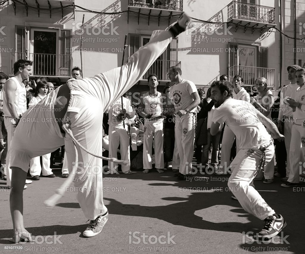 Capoeira High Kick stock photo