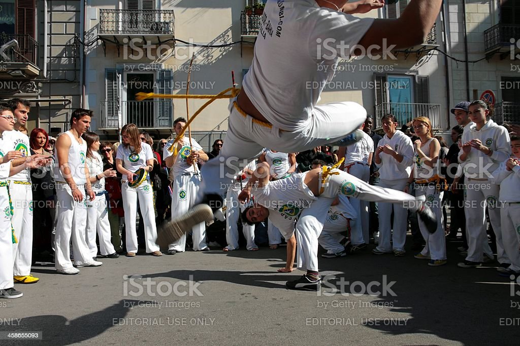 Capoeira performance royalty-free stock photo