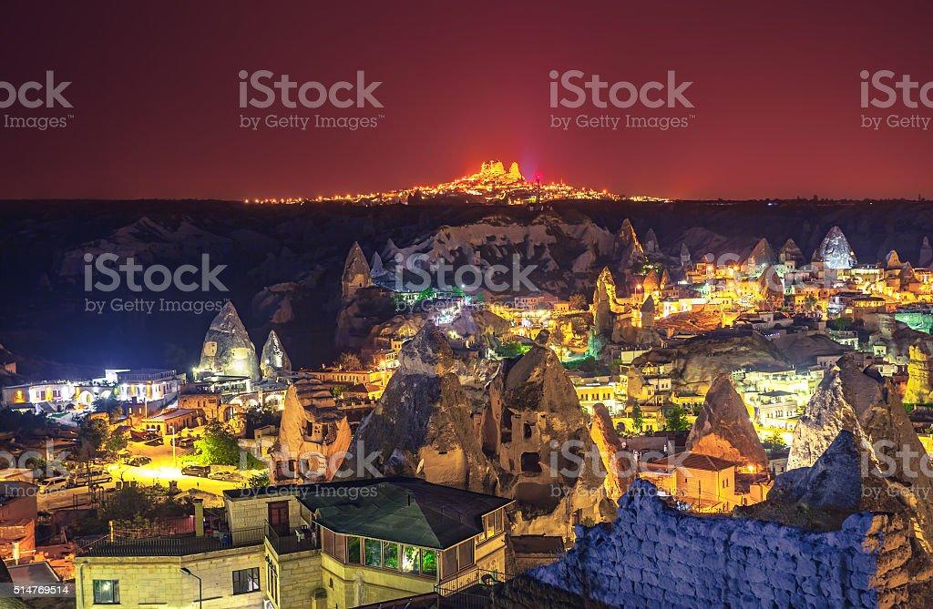 Cappadocia Ancient town in Turkey stock photo