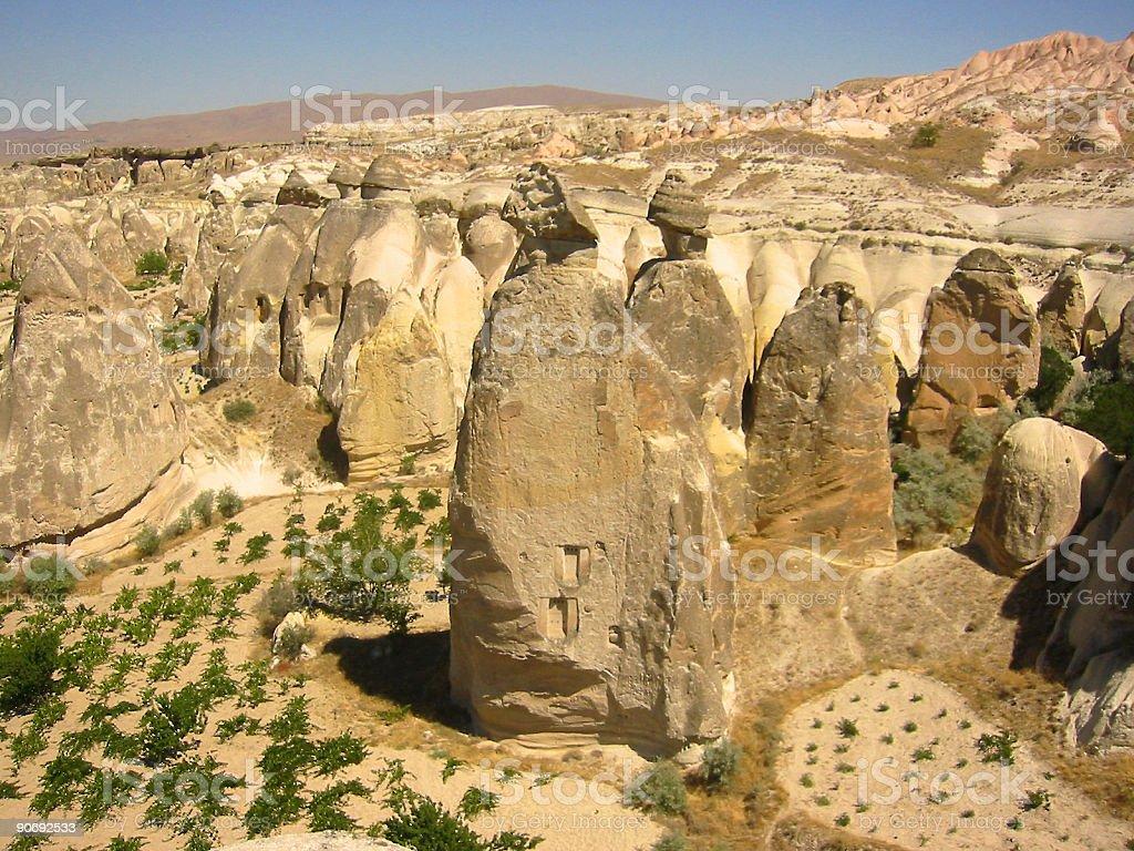 cappadocia fairy chimneys landscape turkey royalty-free stock photo