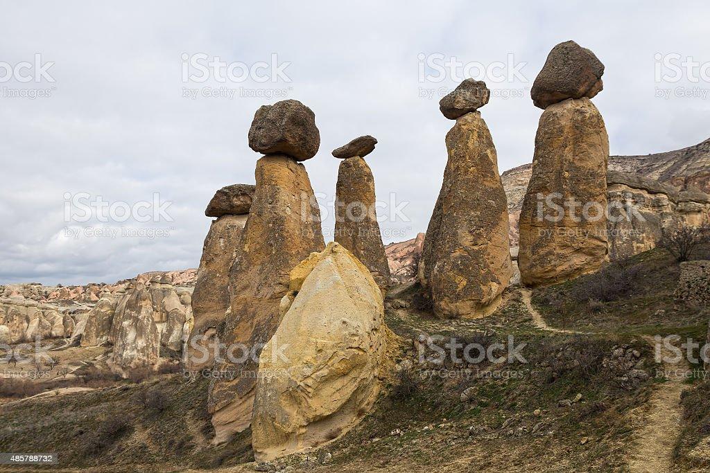 Cappadocia, stone mushrooms stock photo
