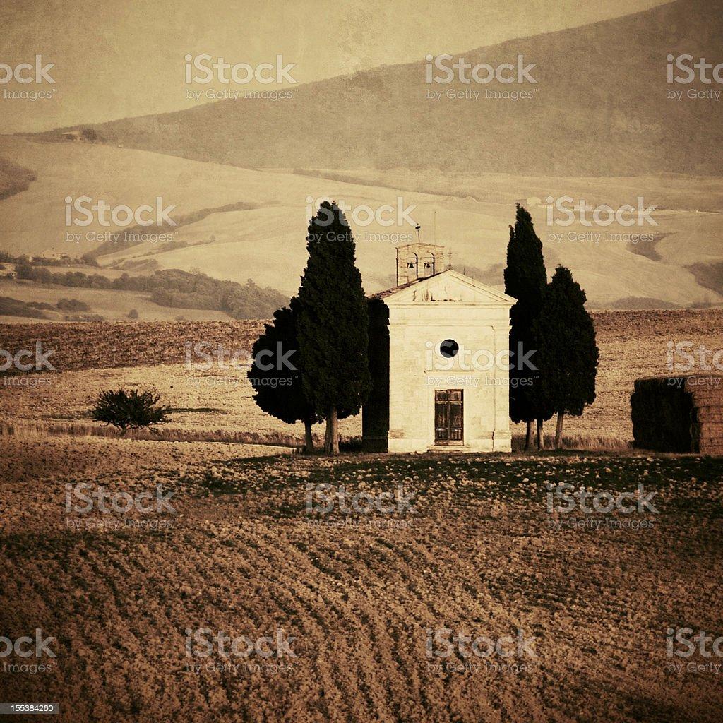 Cappella di Vitaleta stock photo