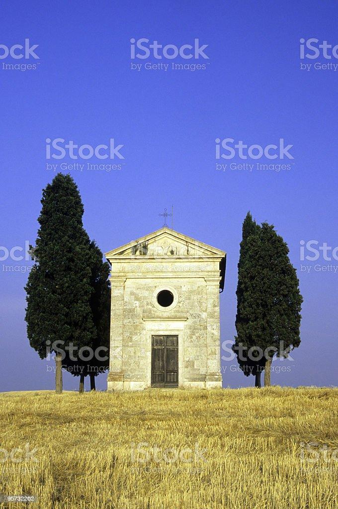 Cappella di Vitaleta, Tuscany, Italy royalty-free stock photo