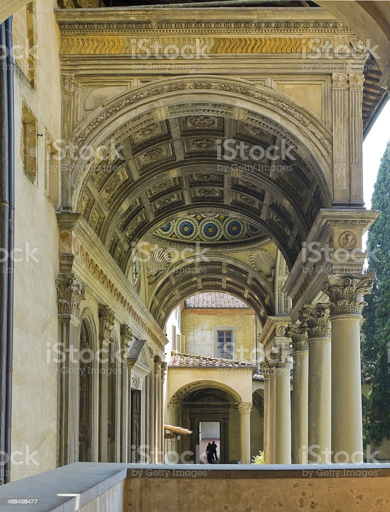 Cappella Pazzi of Basilica di Santa Croce. Florence, Italy royalty-free stock photo