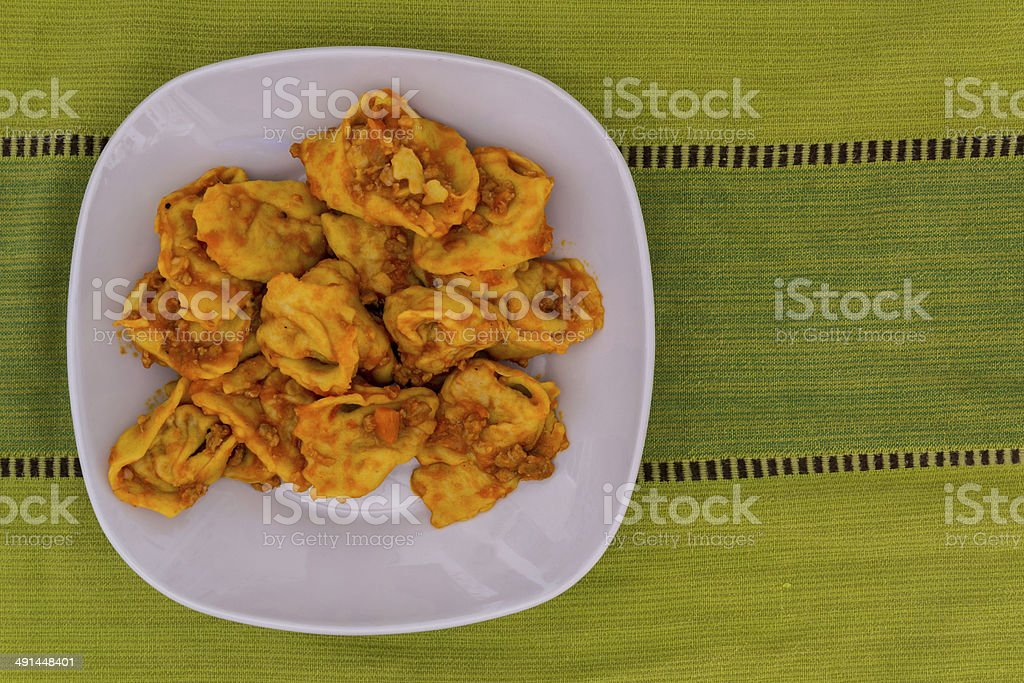 Cappellacci with rag? stock photo