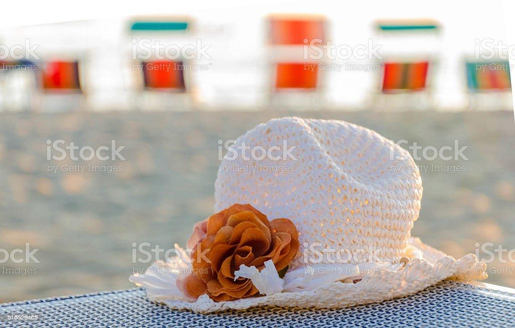 cappello con fiore stock photo