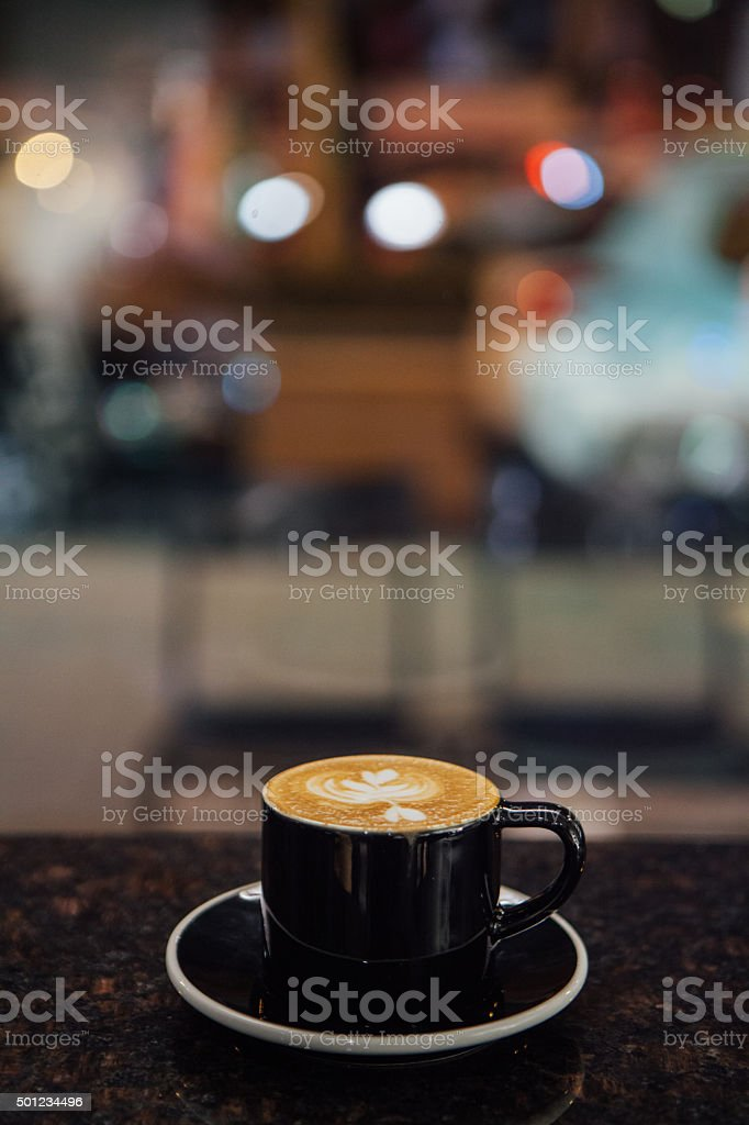 Cappuccino Art stock photo