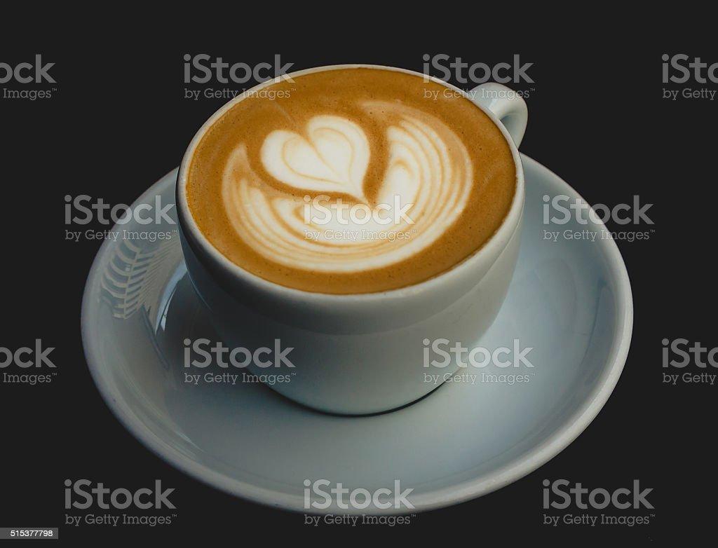 Cappuccino art stock photo