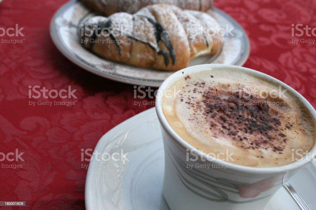 cappuccino breakfast royalty-free stock photo