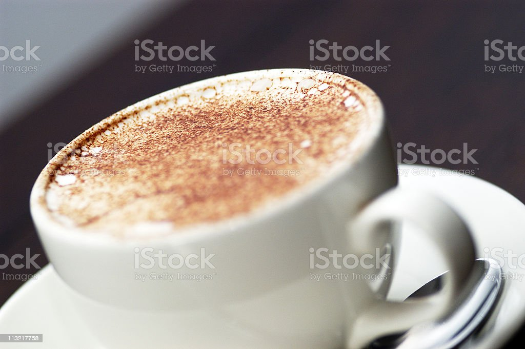 cappuccino close up royalty-free stock photo