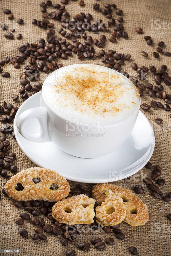 Cappuccino, coffee cup royalty-free stock photo