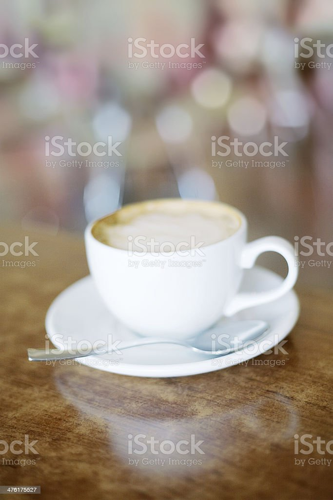 cappuccino coffee cup royalty-free stock photo