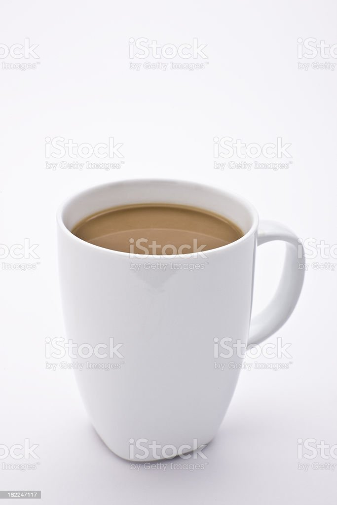 Cappuccino Coffee in White Porcelain Cup royalty-free stock photo