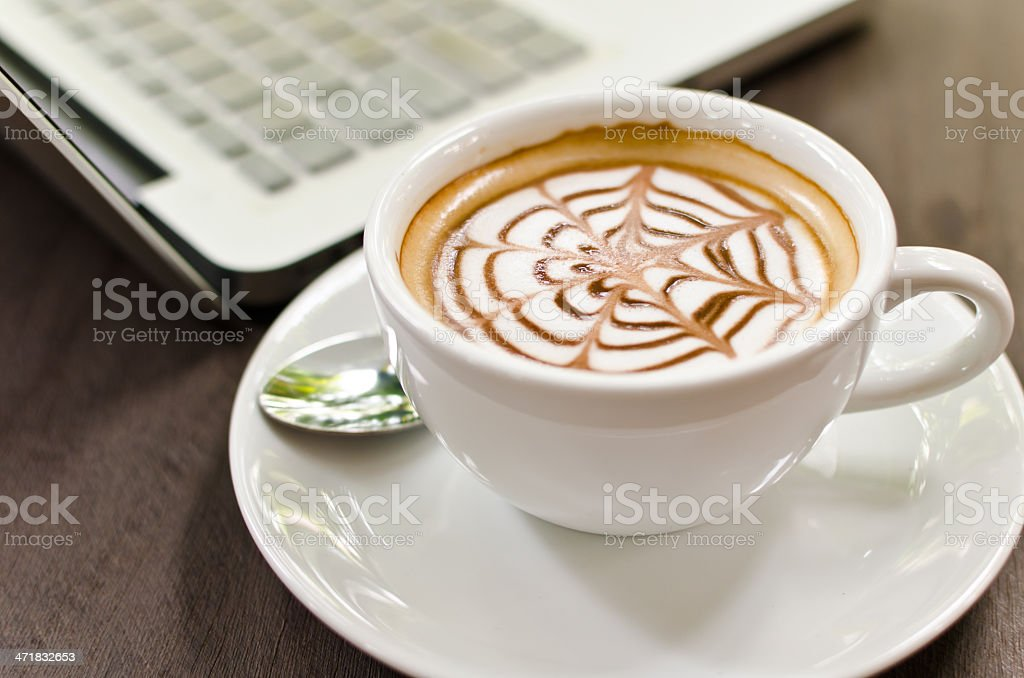 Cappuccino Coffee on the table. royalty-free stock photo