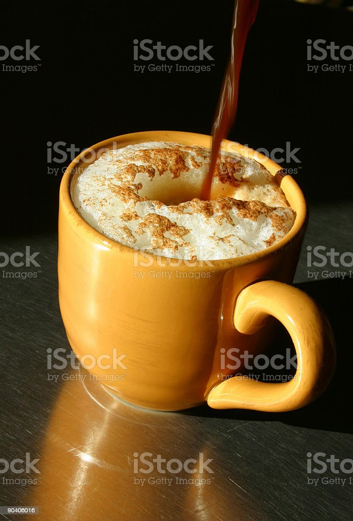 Cappuccino Creation royalty-free stock photo