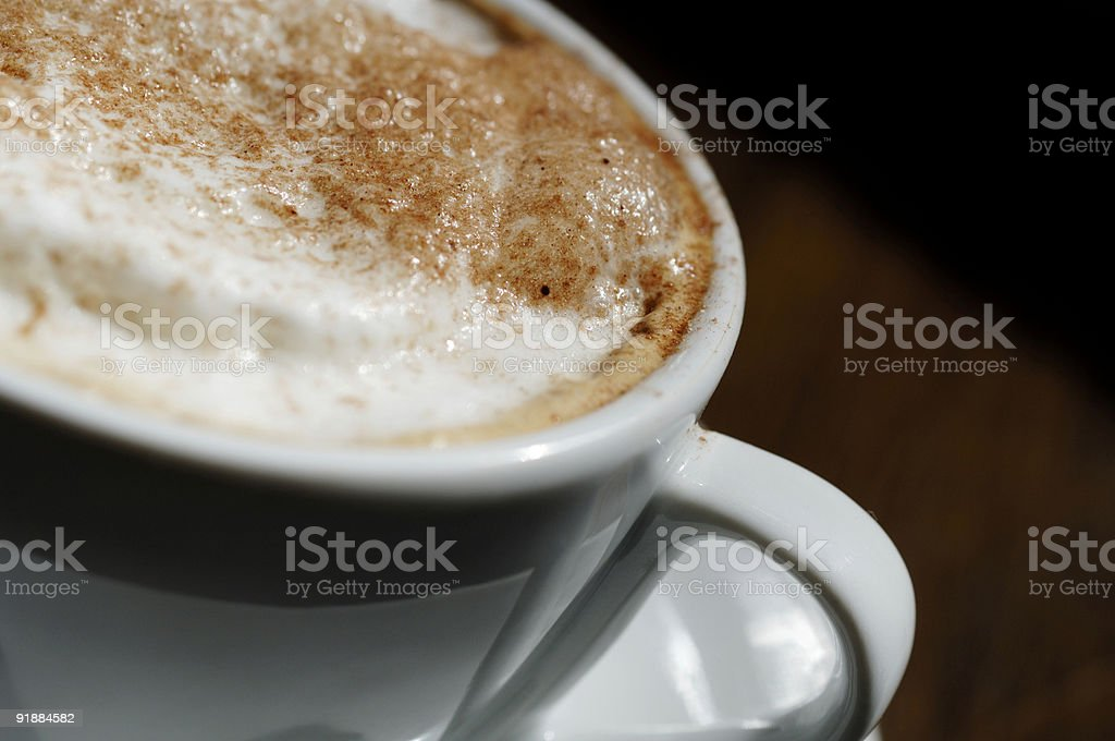 cappuccino foam coffee milk froth in cup royalty-free stock photo