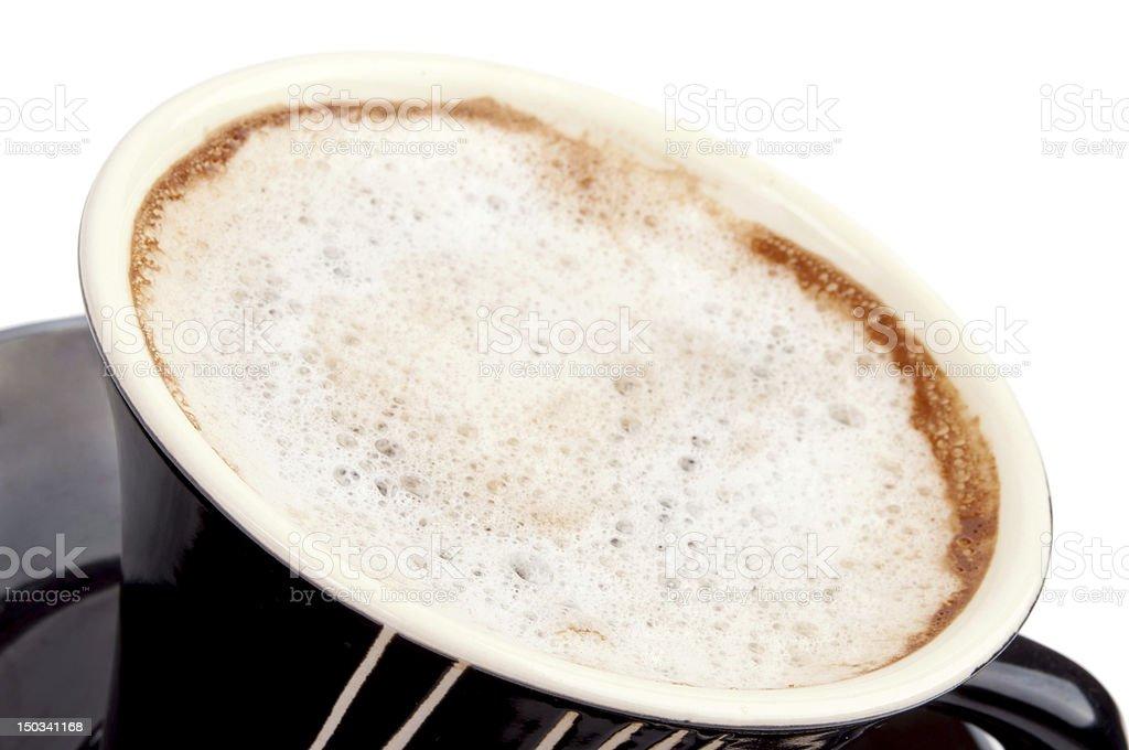 Cappuccino foam stock photo