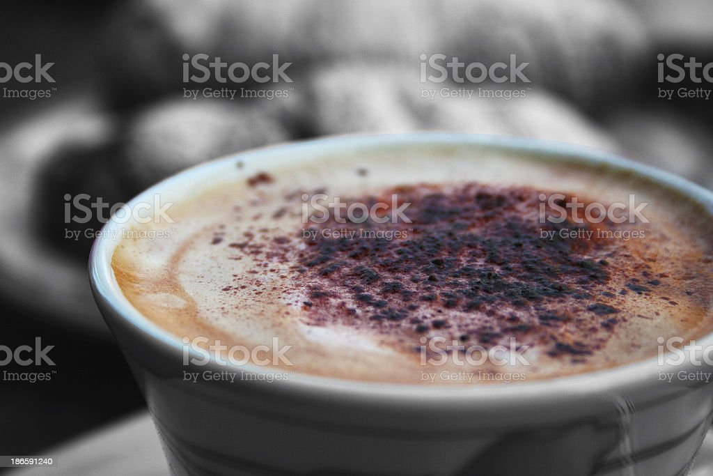 cappuccino froth royalty-free stock photo