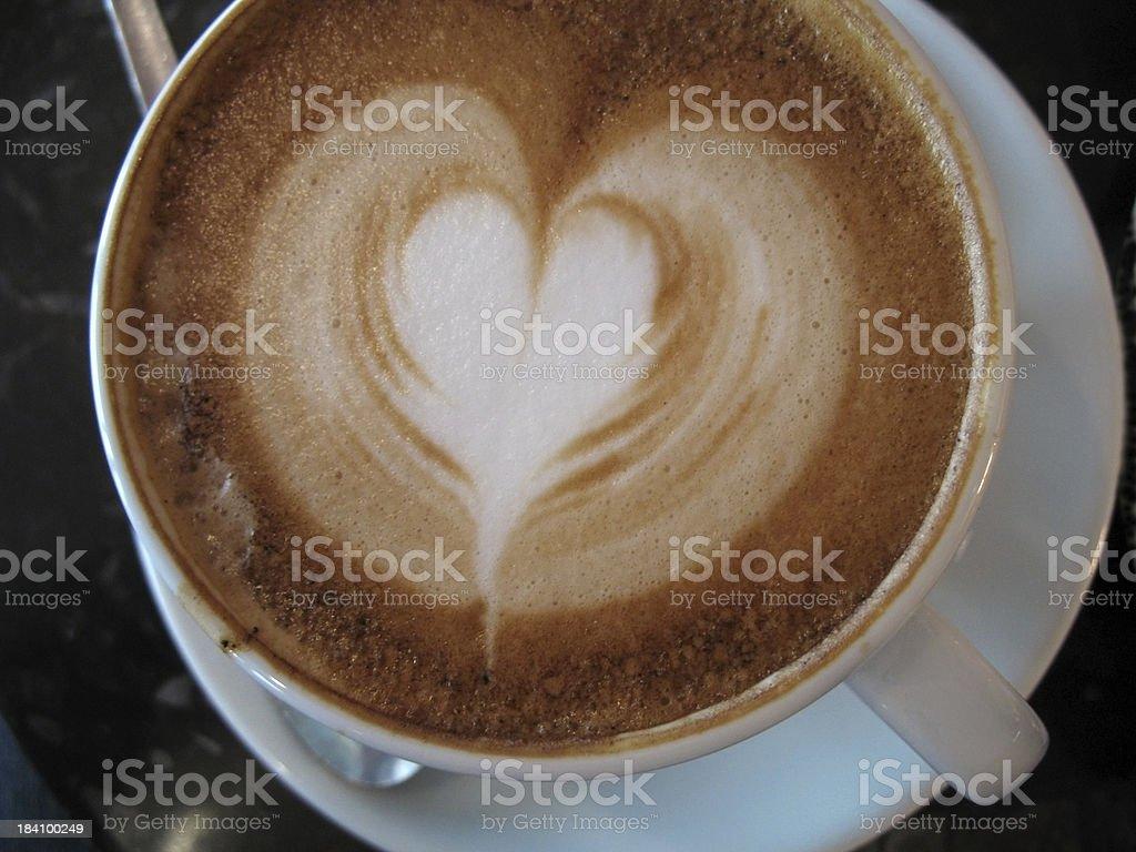 Cappuccino heart royalty-free stock photo