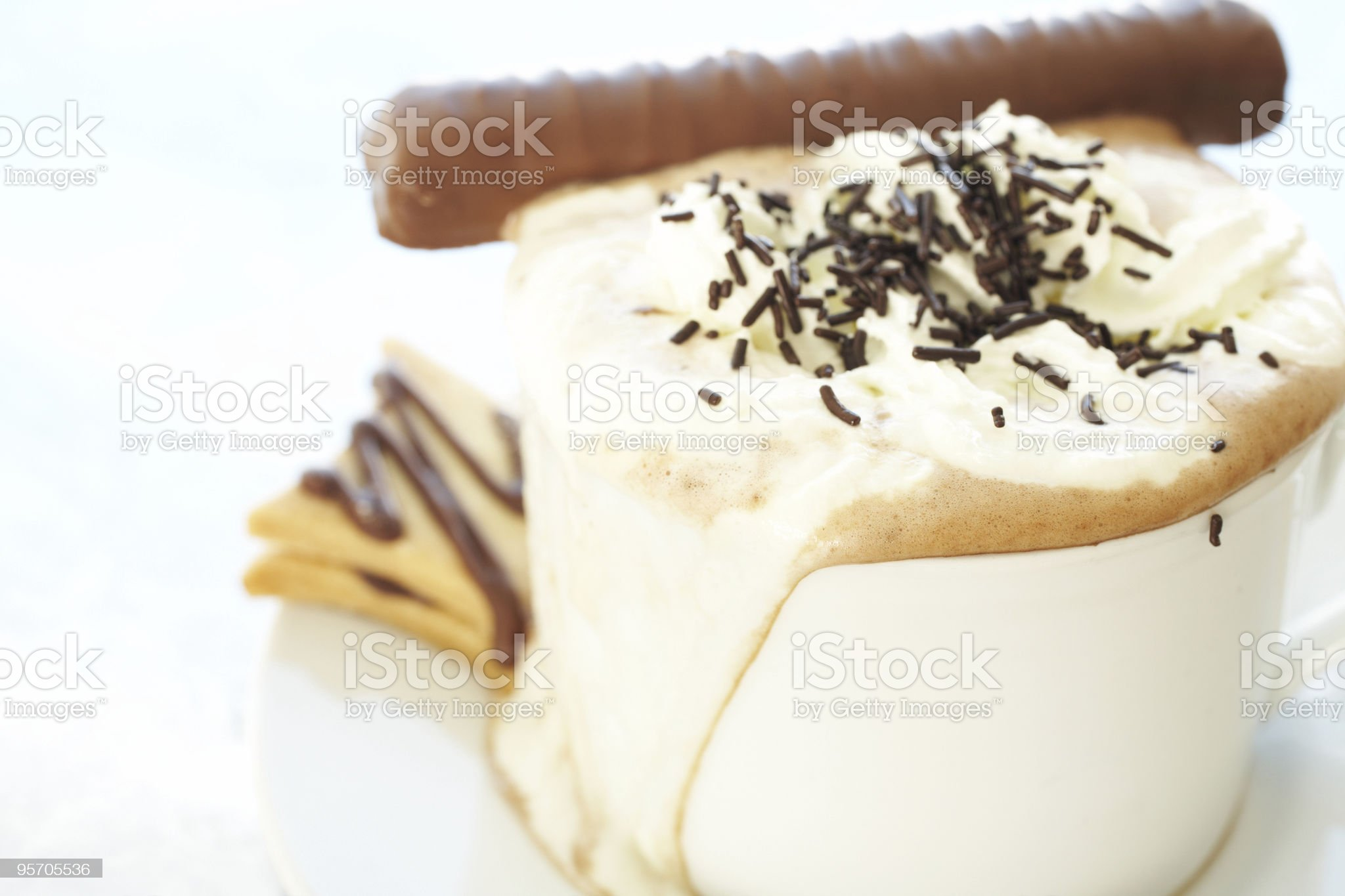 Cappuccino in coffee cup royalty-free stock photo