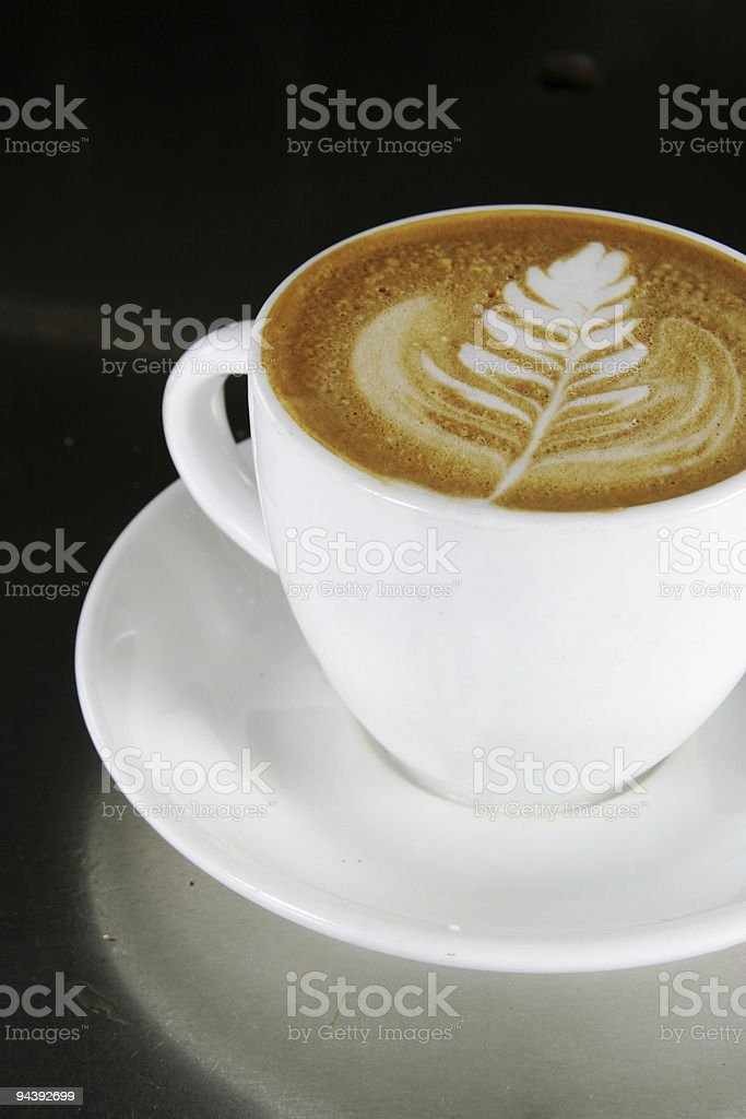 Cappuccino Latte Art royalty-free stock photo