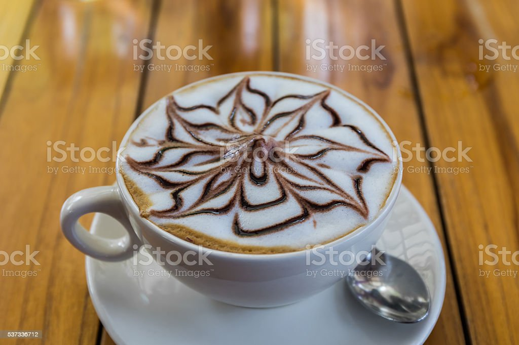 Cappuccino or latte coffee. stock photo