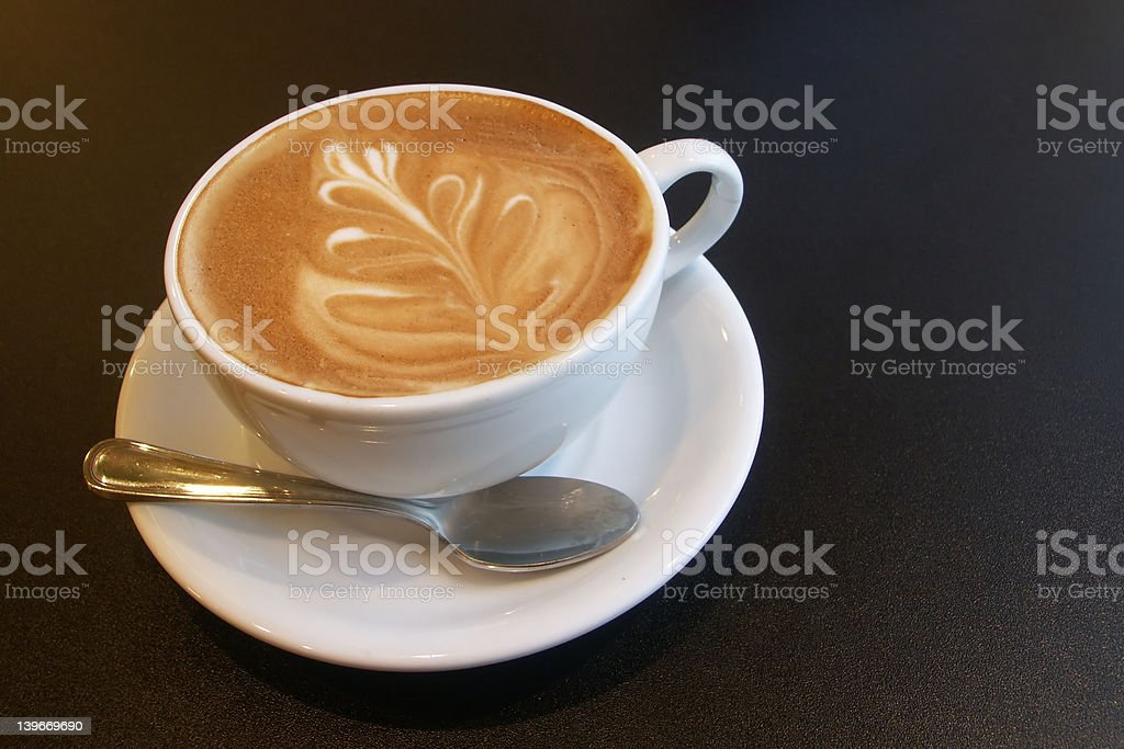 Cappuccino time stock photo