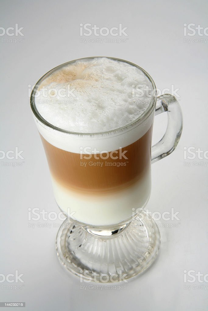 Cappuccino two colors royalty-free stock photo